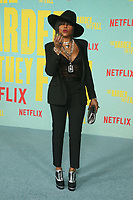 LOS ANGELES, CA - OCTOBER 13: Taraji P. Henson at the Special Screening Of The Harder They Fall at The Shrine in Los Angeles, California on October 13, 2021. Credit: Faye Sadou/MediaPunch