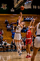 19 February 2020: University of Vermont Catamount Forward Hanna Crymble, a Senior from Champlin, MN, goes for a layup in second-half action against the Stony Brook Seawolves at Patrick Gymnasium in Burlington, Vermont. The Lady Seawolves edged out the Lady Catamounts 72-68 in America East Women's Basketball. Mandatory Credit: Ed Wolfstein Photo *** RAW (NEF) Image File Available ***