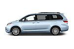 Car Driver side profile view of a2015 Toyota Sienna Limited V6 8-Passenger 5 Door Mini Van Side View