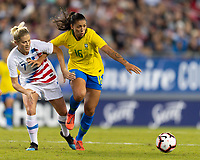 Tampa, FL - Monday, March 05, 2019: USWNT defeated Brasil 1-0 in a SheBelieves Cup match at Raymond James Stadium.
