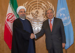 Photo Opportunity: The Secretary-General with H.E. Mr. Hassan Rouhani, President, Islamic Republic o
