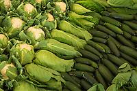 Display of vegetables at Royal Cornwall Show.