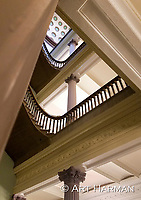 Stairway at the Eisenhower Old Executive Office Building by Art Harman, next to the White House