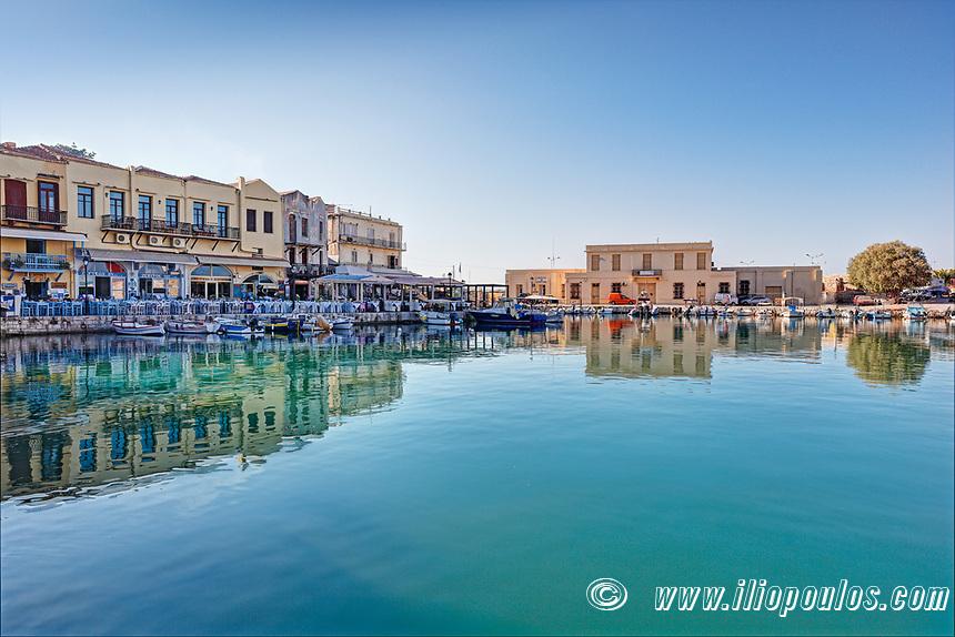 Rethymno's Venetian Harbour in Crete, Greece