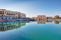 Rethymno's Venetian Harbour in Crete, Greece