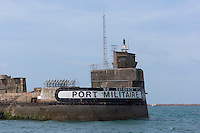 France, Manche (50), Cotentin, Cherbourg, rade de Cherbourg : Entrée du port militaire  // France, Manche, Cotentin, Cherbourg,Cherbourg Harbour (French rade de Cherbourg; literally, the roadstead of Cherbourg ,  Enter the military port