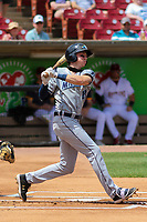 West Michigan Whitecaps outfielder Bryant Packard (18) swings at a pitch during a game against the Wisconsin Timber Rattlers on May 22, 2021 at Neuroscience Group Field at Fox Cities Stadium in Grand Chute, Wisconsin.  (Brad Krause/Four Seam Images)