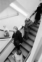 Le magasin EATON's au centre ville de Montreal, March 1976<br /> <br /> PHOTO :   Agence Quebec Presse
