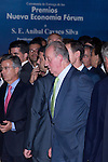 "02.10.2012. King Juan Carlos I of Spain attends the delivery of the ""New Economy Forum Awards 2011 and 2012"" to the Portuguese Republic and the Italian Republic, in the person of its Presidents, Anibal Cavaco Silva and Giorgio Napolitano respectively, at the Teatro de la Zarzuela in Madrid, Spain. In the image King Juan Carlos I of Spain (Alterphotos/Marta Gonzalez)"