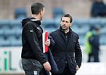 Dundee v St Johnstone…10.03.18…  Dens Park    SPFL<br />Dundee manager Neil McCann and assistant Graham Gartland walk to the dugout<br />Picture by Graeme Hart. <br />Copyright Perthshire Picture Agency<br />Tel: 01738 623350  Mobile: 07990 594431
