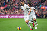 Real Madrid's Karim Benzema, Marcelo Vieira during spanish La Liga match between Futbol Club Barcelona and Real Madrid  at Camp Nou Stadium in Barcelona , Spain. Decembe r03, 2016. (ALTERPHOTOS/Rodrigo Jimenez)