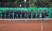 Hilversum, Netherlands, August 8, 2016, National Junior Championships, NJK, Official Opening, umpires<br /> <br /> Photo: Tennisimages/Henk Koster