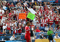 HOOVER, AL - DECEMBER 09, 2012: Fans of Indiana University during the NCAA 2012 Men's College Cup championship, at Regions Park, in Hoover , AL, on Sunday, December 09, 2012.