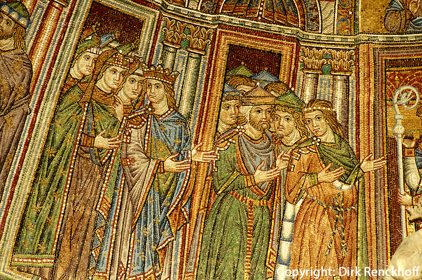 Dom San Marco, Mosaik am Portal, Venedig,  Venetien, Italien, Unesco-Weltkulturerbe