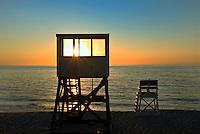 Lifeguard stand at Nauset Beach, Cape Cod National Seashore, Cape Cod, MA, USA