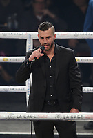 David Lemieux apologize to his fans for not beeing able to fight, March 12,2016.<br /> <br /> <br /> <br /> Photo : Pierre Roussel  -  Agence Quebec Presse