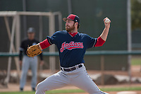 Cleveland Indians relief pitcher Zack Draper (52) during a Minor League Spring Training game against the Chicago White Sox at Camelback Ranch on March 16, 2018 in Glendale, Arizona. (Zachary Lucy/Four Seam Images)