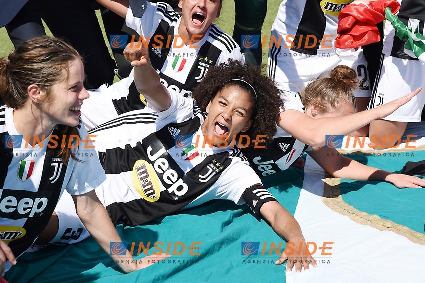 Sata Gama.  Celebration at the end of the match <br /> Verona 20-4-2019 Stadio AGSM Olivieri <br /> Football Women Serie A Hellas Verona - Juventus <br /> Juventus win italian championship <br /> Photo Daniele Buffa / Image Sport / Insidefoto