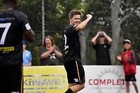 Andrew Bevin of Team Wellington celebrates a goal during the ISPS Handa Men's Premiership - Team Wellington v Wellington Phoenix at David Farrington Park,Wellington on Sunday 24 January 2021.<br /> Copyright photo: Masanori Udagawa /  www.photosport.nz