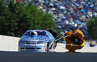 Jul. 24, 2011; Morrison, CO, USA: NHRA pro stock driver Allen Johnson during the Mile High Nationals at Bandimere Speedway. Mandatory Credit: Mark J. Rebilas-