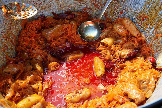 Kloszvari Toltott Kaposzta ( stuffed cabbage). Paprika food festival, Kalocsa. Hungary