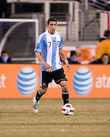 Angel Di Maria. The USMNT tied Argentina, 1-1, at the New Meadowlands Stadium in East Rutherford, NJ.