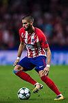 Yannick Ferreira Carrasco of Atletico de Madrid in action during the UEFA Champions League 2017-18 match between Atletico de Madrid and Chelsea FC at the Wanda Metropolitano on 27 September 2017, in Madrid, Spain. Photo by Diego Gonzalez / Power Sport Images