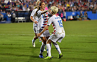 Frisco, TX - Sunday October 14, 2018: The women's national teams of the United States (USA) and Jamaica (JAM) play in an 2018 CONCACAF Women's Championship Semifinal game at Toyota Stadium.