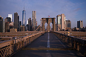 April 21, 2020<br /> New York, New York<br /> <br /> An empty Brooklyn Bridge moments after sunrise during the height of the coronavirus pandemic.