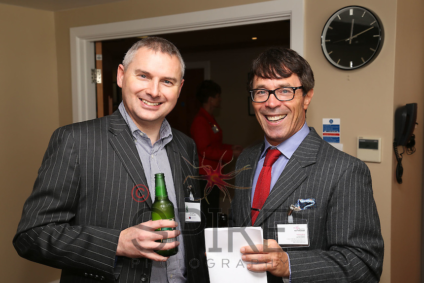 All smiles for Andy Jaques of JLT Speciality and Anthony Byrne of Invest in Nottingham