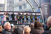 Team Direct Energie pre race team presentation. <br /> <br /> 82nd Gent – Wevelgem in Flanders Fields 2019 (1.UWT)<br /> Deinze – Wevelgem: 251,5km<br /> ©kramon