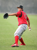 2007:  Feng-Yen Lin of the Williamsport Crosscutters, Class-A affiliate of the Philadelphia Phillies, during the New York-Penn League baseball season.  Photo By Mike Janes/Four Seam Images