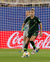 GRENOBLE, FRANCE - JUNE 18: Steph Catley #7 of the Australian National Team dribbles during a game between Jamaica and Australia at Stade des Alpes on June 18, 2019 in Grenoble, France.