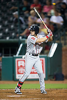 Andrew Benintendi (2) of the Greenville Drive at bat against the Greensboro Grasshoppers at NewBridge Bank Park on August 17, 2015 in Greensboro, North Carolina.  The Drive defeated the Grasshoppers 5-4 in 13 innings.  (Brian Westerholt/Four Seam Images)