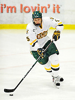 29 January 2010: University of Vermont Catamount forward Brayden Irwin, a Senior from Toronto, Ontario, in action during the third period against the University of Maine Black Bears at Gutterson Fieldhouse in Burlington, Vermont. The Black Bears defeated the Catamounts 6-3 in the first game of their America East weekend series. Mandatory Credit: Ed Wolfstein Photo