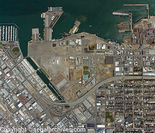 Historical aerial photo map of Mission Bay, San Francisco, California, 2008