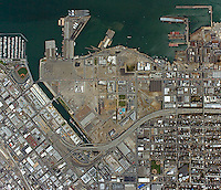 Historical aerial photo map of Mission Bay, San Francisco, California, 2008