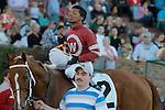 Jockey Ricardo Santana, Jr. aboard #2 Tapiture after winning the Southwest Stakes (Grade III) at Oaklawn Park in Hot Springs, Arkansas on February 17, 2014. (Credit Image: © Justin Manning/Eclipse/ZUMAPRESS.com)