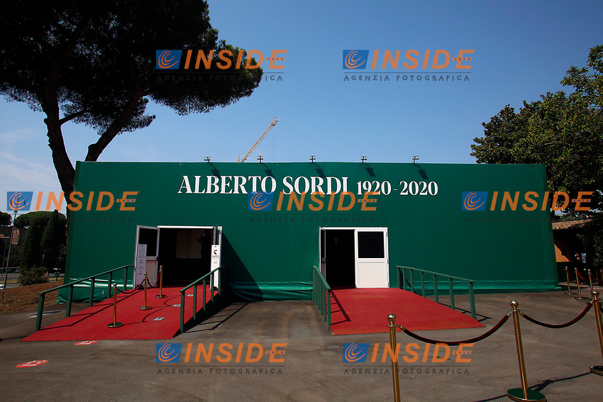 Opening of the actor Alberto Sordi's house-museum in Rome. In occasion of the centenary of his  birth, the villa in the heart of Rome, where he lived from 1959 to death, was opened to the public, becoming a house-museum. The house still contains thousand of objects belonged to the actor. In the garden two more tensile structures were added, containing stage clothes, posters of his films, photos and much more.<br /> Rome (Italy), September 15th 2020<br /> Photo Samantha Zucchi Insidefoto