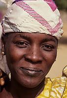 Smiling Nigerien Djerma (Zarma) Woman, Tonkassare, Niger.