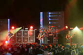 WEST PALM BEACH, FL - AUGUST 05: Mike Mushok, Aaron Lewis, Sal Giancarelli and Johnny April of Staind perform at The iTHINK Financial Amphitheatre on August 5, 2021 in West Palm Beach Florida. Credit Larry Marano © 2021