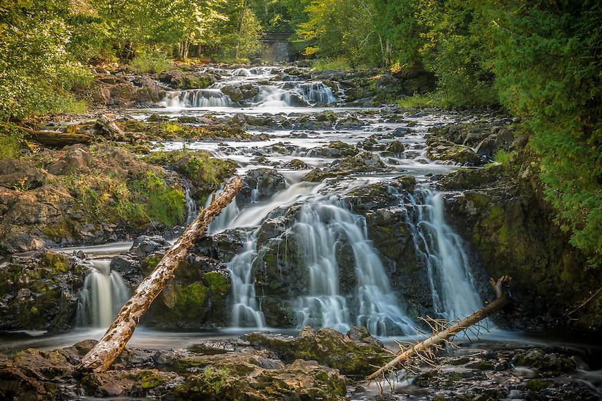 Tyler Forks Cascade in Copper Falls State Park near Mellen, Wisconsin