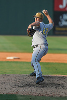 Reed Dickert of the West Virginia Power, Class A affiliate of the Milwaukee Brewers, delivers a pitch in a game against the Greenville Drive on August 17, 2008, at Fluor Field at the West End in Greenville, S.C. (Tom Priddy/Four Seam Images)