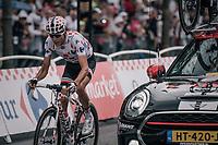 Polka Dot Jersey / KOM leader Warren Barguil (FRA/Sunweb) racing back into contention after a mechanical<br /> <br /> 104th Tour de France 2017<br /> Stage 21 - Montgeron › Paris (105km)