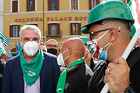 Luigi Sbarra, secretary of CISL during the demonstration of the trade unions in Piazza Montecitorio .<br /> Rome (Italy), May 28th 2021<br /> Photo Samantha Zucchi Insidefoto