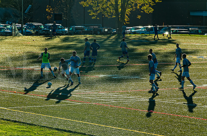 High school soccer practice, USA