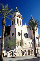 church, Phoenix, Arizona, AZ, St. Mary's Basilica in downtown Phoenix.