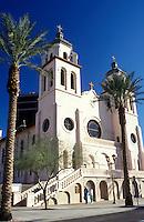 church, Phoenix, Arizona, AZ, St. Mary's Basilica in downtown Phoenix.
