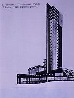 Russia:  Palace of Labor, 1926 DiPloma Project.  V. Teplitsky.