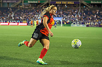Orlando, Florida - Sunday, May 14, 2016: Western New York Flash forward Adriana Leon (19) during a National Women's Soccer League match between Orlando Pride and New York Flash at Camping World Stadium.